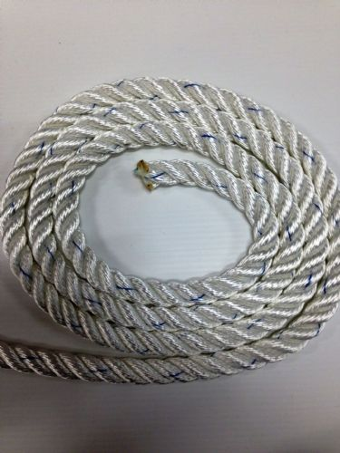 Liros White Polyester 3 Strand Rope Anchor/Mooring Line 14mm,12mm,10mm,8mm